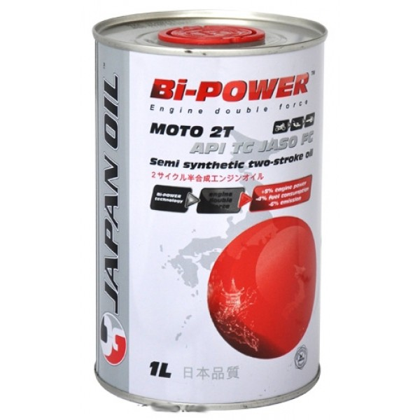 Масла для мототехники Моторное масло Bi-Power Japan Oil Moto 2T (1л.) (півсинтетика)  арт. 0020229