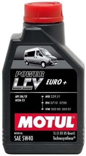 Масла моторные Моторное масло MOTUL POWER LCV EURO+ 5W40 (1л.)  арт. 872111