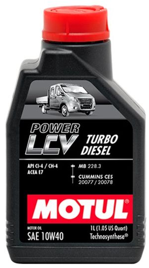 Масла моторные Моторное масло Motul POWER LCV TURBO DIESEL 10W40 (1л.)  арт. 875111