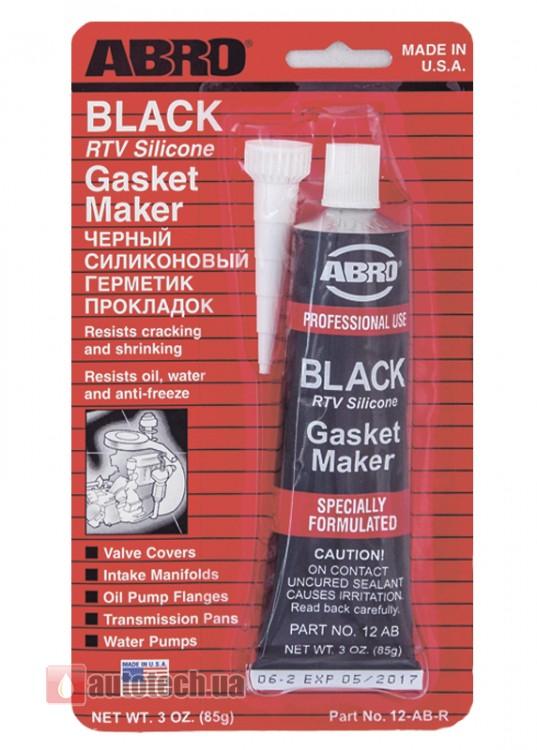 abro Герметик прокладок черный ABRO (85гр) ABRO 12АВ