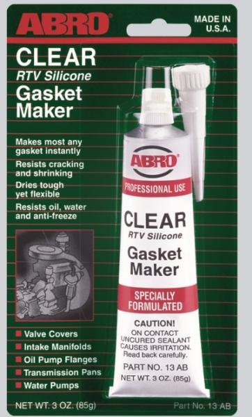 abro Герметик прокладок прозрачный ABRO (85гр) ABRO 13AB