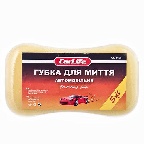 carlife Губка для миття авто Soft з дрібними порами 220x120x60mm,жовта CARLIFE CL412