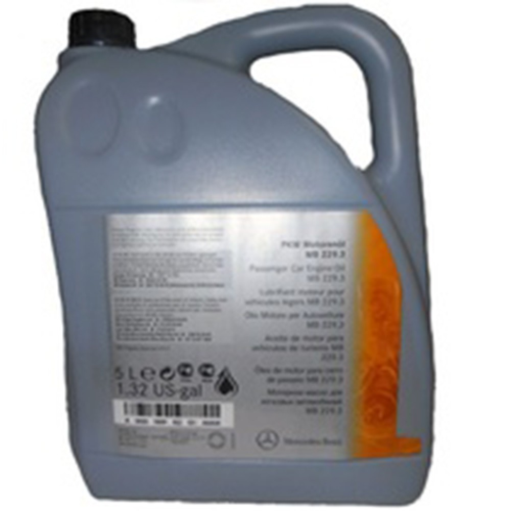 Масла моторные Моторное масло MERCEDES-BENZ Engine Oil 5W-40 (229.3) (5л.)  арт. 0009898201AGA4