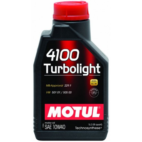 Масла моторные Моторное масло MOTUL 4100 TURBOLIGHT 10W40 (1л.)  арт. 387601