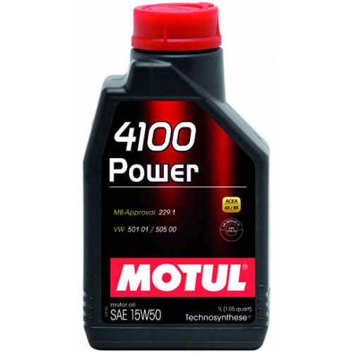 Масла моторные Моторное масло MOTUL 4100 POWER 15W50 (1л.)  арт. 386201