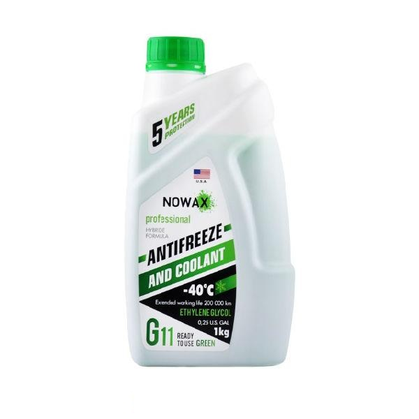 Антифриз Антифриз NOWAX ANTIFREEZE G11 GREEN (1л.)  арт. NX01008
