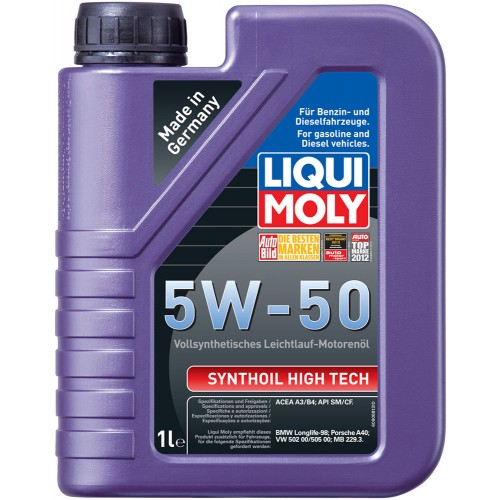 Масла моторные Моторное масло Liqui Moly SYNTHOIL HIGH TECH 5W-50 (1л.)  арт. 9066